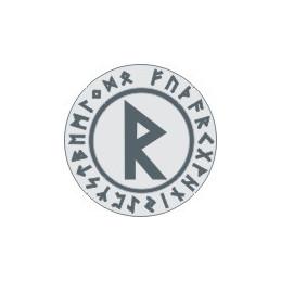 Runa raidho (raido) - okrągła