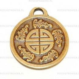 Amulet 23 symbol pięciu błogosławieństw i życzeń