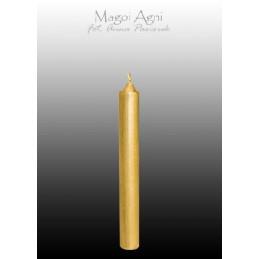 Świeca z wosku - złota 9 x 1,2 cm