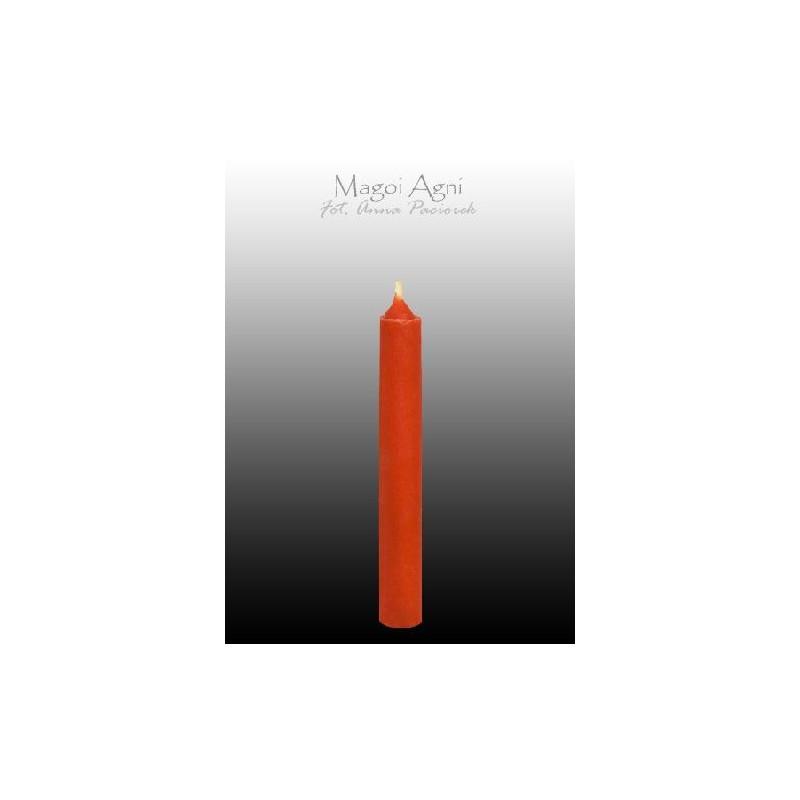 Świeca z wosku - czerwona 9 x 1,2 cm