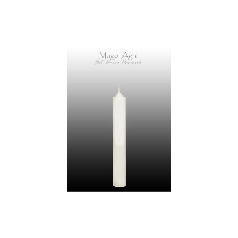 Świeca z wosku - biała 9 x 1,2 cm