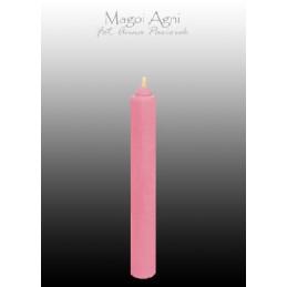 Świeca z wosku - różowa 9 x 1,2 cm
