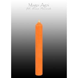 Świeca z wosku - pomarańczowa 9 x 1,2 cm
