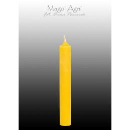 Świeca z wosku - żółta 9 x 1,2 cm