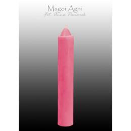 Świeca z wosku różowa 10 x 1.8 cm