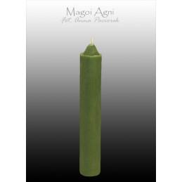 Świeca z wosku zielona 10 x 1.8 cm