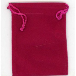 Woreczek zamszowy - różowy - wym. 8 x 10 cm