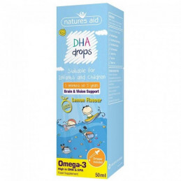 OMEGA-3 DHA i EPA w kroplach dla dzieci i niemowląt NATURES AID