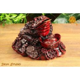 Żaba Feng Shui - czerwona średnia