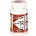 Alpha Lipoic Acid 25mg (Hypoallergenic) 90kaps. Kirkman