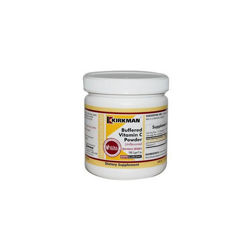 Buffered Vitamin C Powder - Unflavored (Hypoallergenic) 198,5g. Kirkman