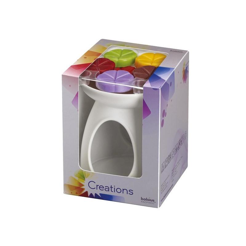 Zestaw Kominek ceramiczny + Płatki zapachowe / Creations BOLSIUS