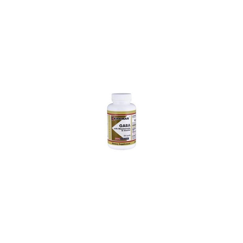 Gaba with Niacinamide & Inositol (Hypoallergenic) 250 kaps. Kirkman