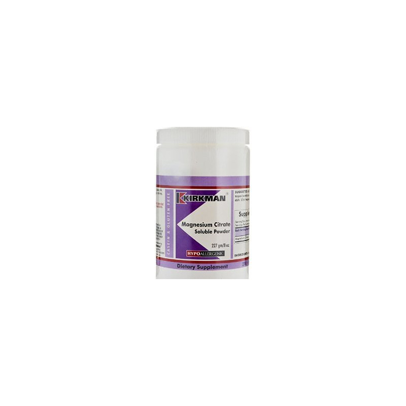 Magnesium Citrate Soluble Powder (Hypoallergenic) 227g kirkman