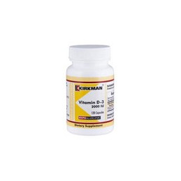 Vitamin D-3 2000 IU (Hypoallergenic) 120kaps. Kirkman