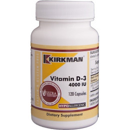 Vitamin D-3 4000 IU (Hypoallergenic) 120 kaps. Kirkman