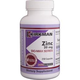 Zinc 20mg (Hypoallergenic) 250 kaps. Kirkman