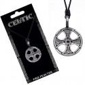 Naszyjnik na sznurku CELTIC - Krzyż celtycki w kole