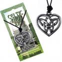 Naszyjnik na sznurku CELTIC - Węzeł celtycki w sercu
