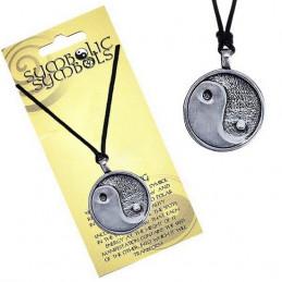Naszyjnik na sznurku SYMBOLIC - Zawieszka z symbolem Jin Jang