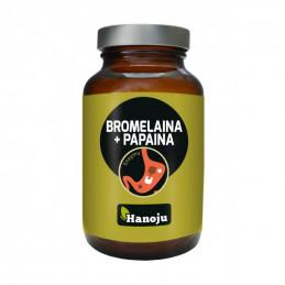 Bromelaina + Papaina (90 kapsułek) Hanoju