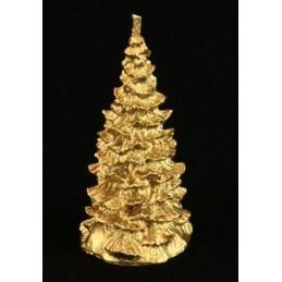 Choinka - świeca z wosku naturalnego - złota 10 x 4 x 5 cm