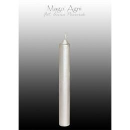 Świeca z wosku srebrna 9 x 1,2 cm