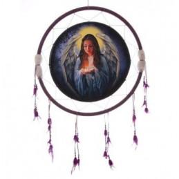 Łapcz snów z aniołem śr 33 cm - dcp02z