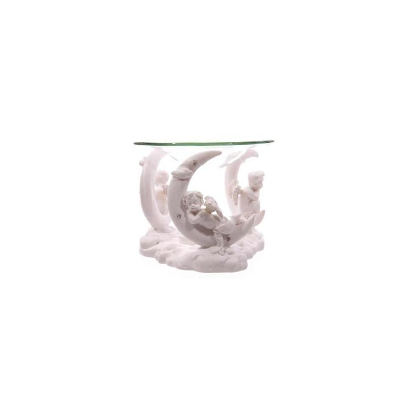 Biała figurka Cherubinówi z naczynkiem wys.10 cm, śr.12 cm CHE43 Puckator