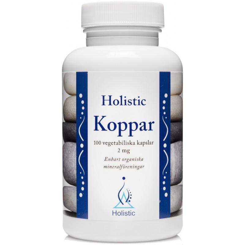 Holistic Koppar Miedź / Organiczne związki miedzi (100 kapsułek) /06.2019/
