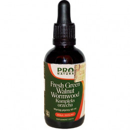 Fresh Green Walnut Wormwood - Kompleks orzecha 60ml Now Foods