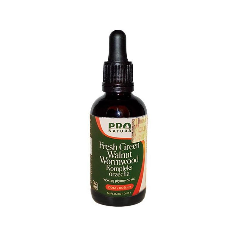Fresh Green Walnut Wormwood - Kompleks orzecha 60ml Now Foods