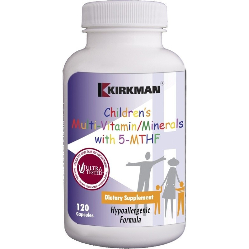 Children's Multi-Vitamin/Mineral w/5-MTHF (Hypoallergenic) - 120 kaps Kirkman