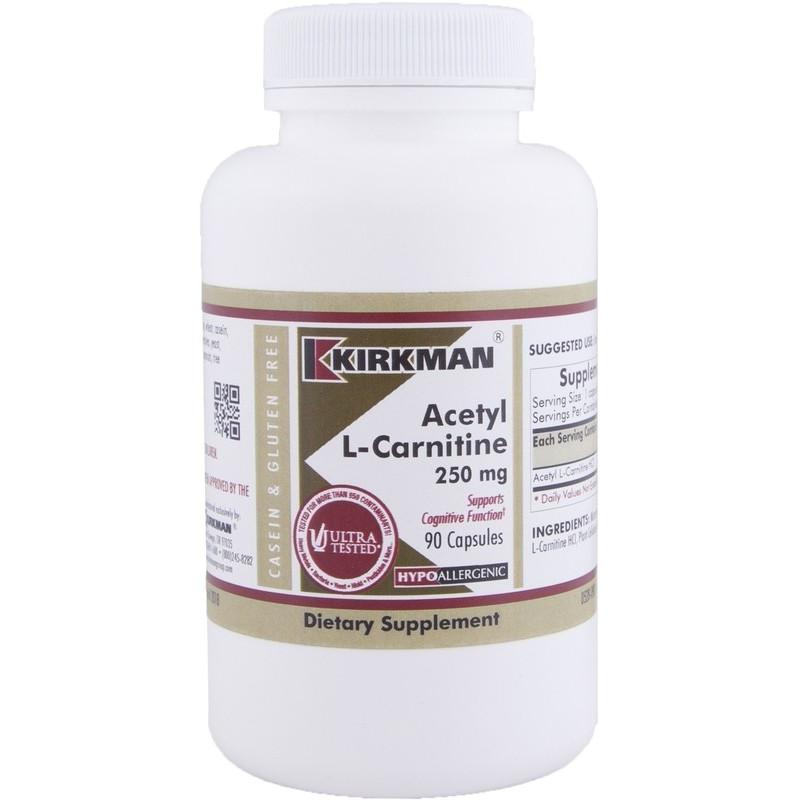 Acetyl L-Carnitine 250 mg - 90 kaps Kirkman