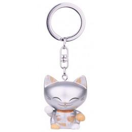 Brelok MANI the lucky CAT / Srebrny kotek na szczęście (MLCK039)