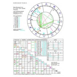 Horoskop urodzeniowy - wykres drukowany+opis drukowany