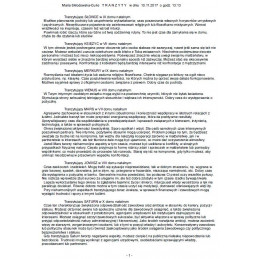 Horoskop tranzytowy -opis drukowany
