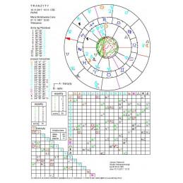 Horoskop tranzytowy - wykres drukowany