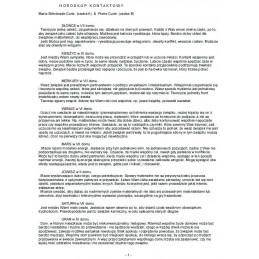 Horoskop kontaktowy- opis elektroniczny