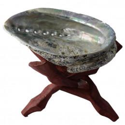 Abalone Shell - muszla z drewnianym stojakiem do palenia kadzideł