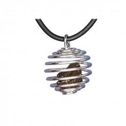 Naszyjnik METEORYT wewnątrz spirali