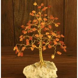 Drzewko szczęścia 100 kamieni Bursztyn, wys. 17 cm