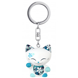 "Brelok kotek biały na szczęście ""Turkusek"" MANI the lucky CAT (MLCK055)"