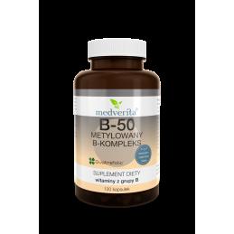 B-50 metylowany B-kompleks (120 kapsułek) Medverita