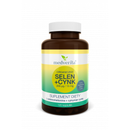Organiczny SELEN + CYNK (200 mcg / 15 mg) (120 kapsułek) Medverita