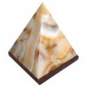 Lampa Piramida z marmuru Onyx