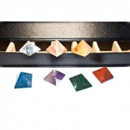 Zestaw piramid CHAKRA 7 (kamienie czakralne)