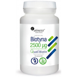 Biotyna 2500 µg (120 tabl. VEGE) Aliness (08.2020)