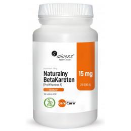 Naturalny BetaKaroten ProWitamina A (100 tabl. VEGE) Aliness (12.2020)