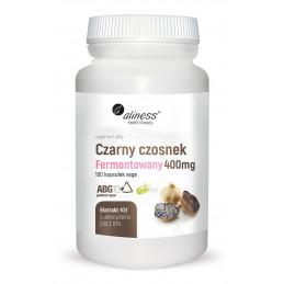 Czarny czosnek fermentowany ABG10+® 400 mg (100 kapsułek VEGE) Aliness (04.2021)